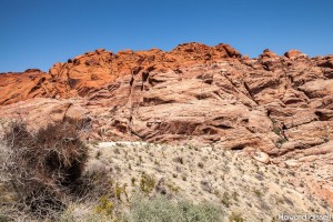 On the Red Rock Canyon scenic drive