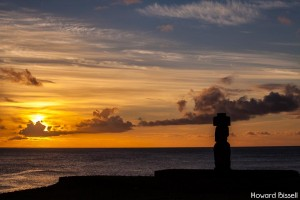 Sunset moai